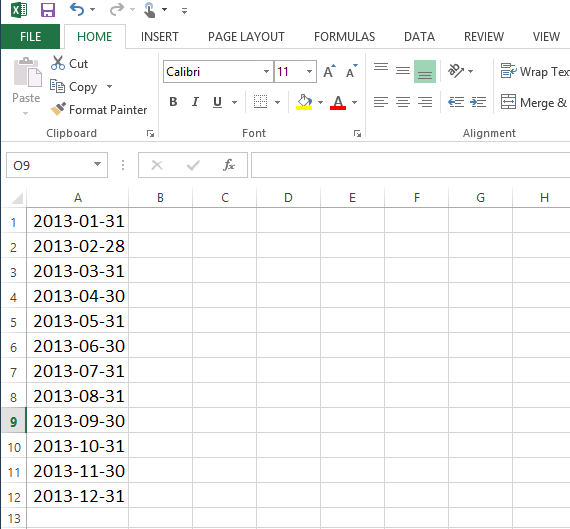 Converting Date Format Using Text To Columns