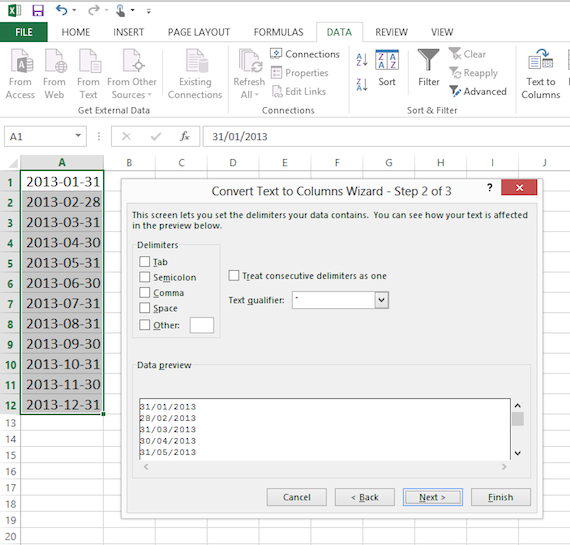 Excel 2010 Macro Convert Date To Text