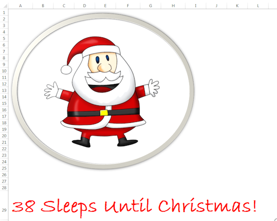 Sleeps Until Christmas