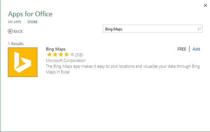 Using Bing Maps to Present Data